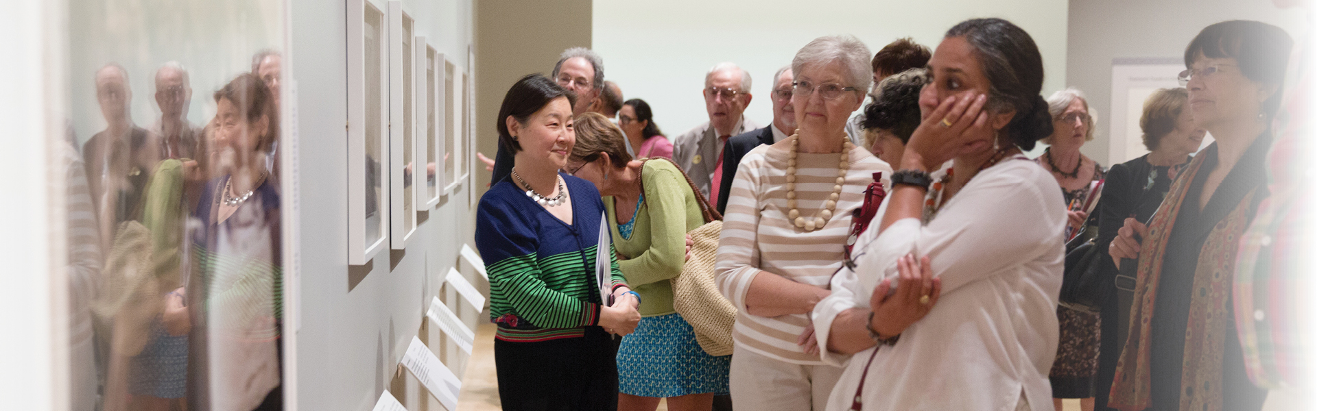 Visitors in the galleries