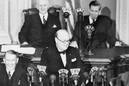 Winston Churchill addresses Congress
