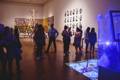 Photo of students in the Corcoran galleries