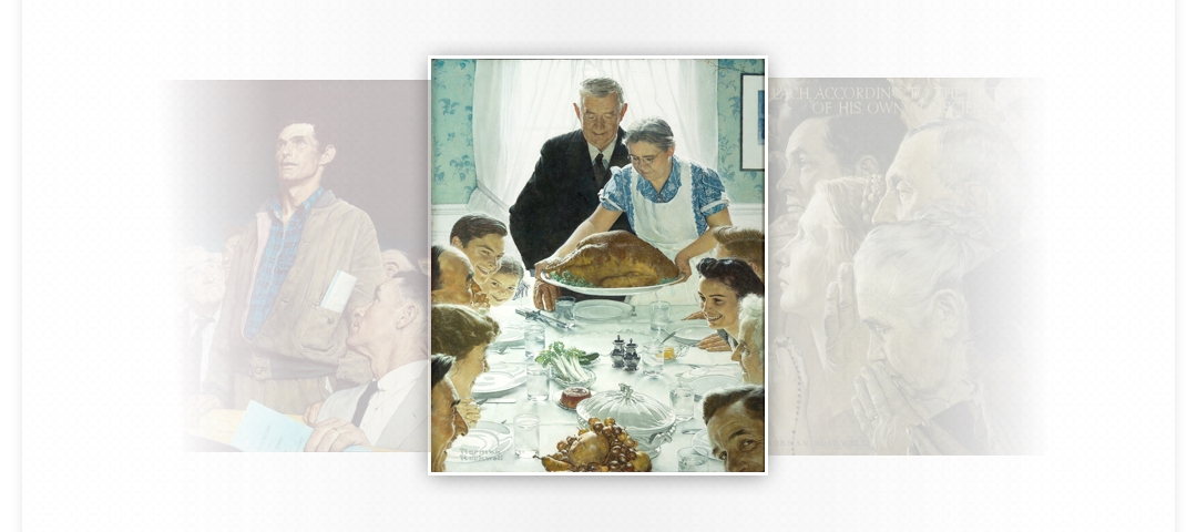 Portrait of a family serving Thanksgiving Dinner