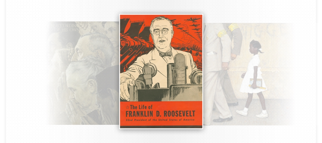 Print of the Life of Franklin D. Roosevelt, 22nd President of the United States