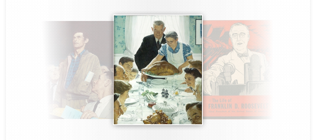 Portrait of a family at a table
